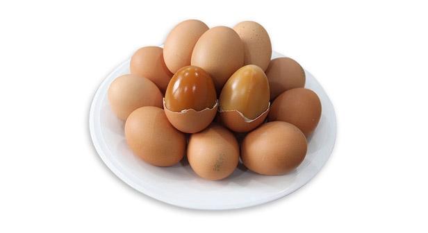 먹음직스럽게 구워진 구운계란(구운란) 60알