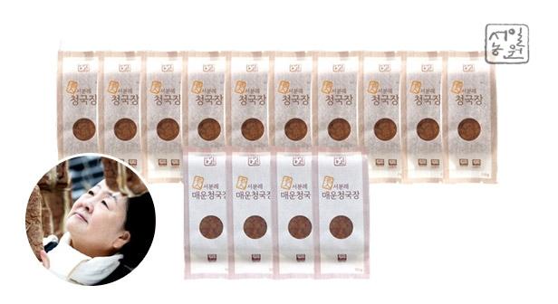 [서일농원] 서분례 명인청국장 일반10팩+매운맛4팩