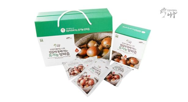 [건강이열리는나무] 껍질채 통으로 먹는 유기농 양파즙 (100ml×30포×1박스)