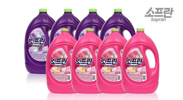 [소프란] 아로마 퍼퓸 섬유유연제 3.1L x4개 핑크 블로썸/바이올렛 머스크 택1