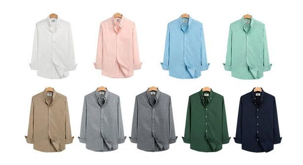 [MKM9] 9컬러 샤이닝 옥스포드 버튼다운셔츠 하나사면하나더 1+1