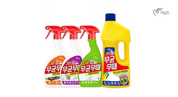 특가! NEW피죤 무균무때 다목적세정제 500mlx3, 바닥청소 1000mlx3/곰팡이,욕실,주방