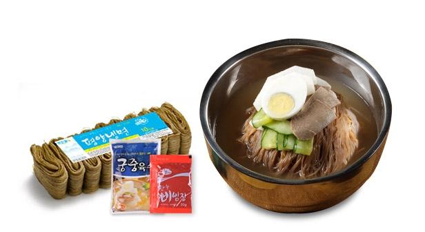 평양 비냉+물냉 20인분 세트(냉면+비빔장10팩+냉면육수10팩)