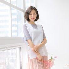 마담4060 엄마옷 산뜻한봄조끼 QVE903018