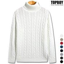 [탑보이] 꽈배기 폴라니트 (TR702)