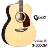 삼익 통기타 SGW S-500OM/NAT 탑백솔리드 OM바디 어쿠스틱기타