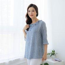 마담4060 엄마옷 줄무늬단추블라우스-ZBL005017-