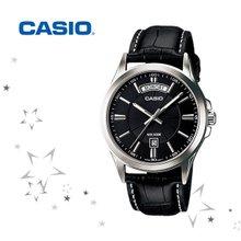 카시오 MTP-1381L-1A 남성 패션 가죽 시계