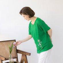 마담4060 엄마옷 꽃한송이티셔츠 QTE906003