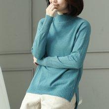 [웬디즈갤러리]위드 넥골지 반목 니트 TKN017
