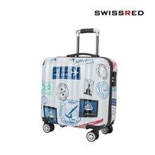 [SSAMZIE]스위스레드 여행가방 미니 하드캐리어 SSAM-1383 16인치 기내용