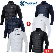 남성코디 [클리브랜드골프] 남성 Xpert 퀼팅 패딩 자켓 + 전면퀼팅 기모 긴팔티셔츠/코디세트_CG502535