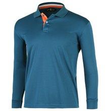 [파파브로]남성 국산 컬러넥 긴팔 카라 티셔츠 LM-L99-WF-청록
