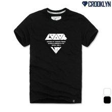 [크루클린] 다이아레터링 반팔 티셔츠 TRS162