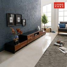 [마레앤코] 멀바우 LW-2700 거실장 풀세트(블랙유리상판)_MRLW021