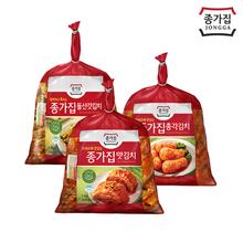 [종가집] 맛김치 1kg+총각김치 1kg+돌산갓김치 1kg
