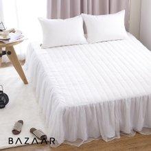 (퀸)바자르 화이트 60수아사 침대스커트