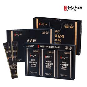 6년근 고려홍삼정 센스틱 10g x 60포 + 쇼핑백