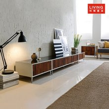 [마레앤코] 멀바우 화이트 LW-2700 거실장 풀세트(블랙유리상판)_MRLW024