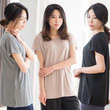 [윈드본] 여성 불가리 롱 반팔티셔츠 5칼라 택1