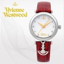 [백화점 AS가능]비비안웨스트우드(VivienneWestwood) 여성가죽시계(VV108WHRD/본사정품)