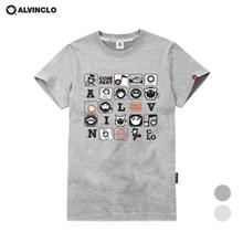 [앨빈클로]AST3214G 카툰 퍼즐 반팔티셔츠 남자 여자 커플룩 단체