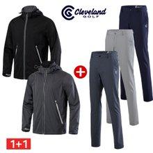 [클리브랜드골프] 스트레치 남성 비옷겸 바람막이 + 3M 메쉬포켓 바지/골프웨어/상하세트_CG040101