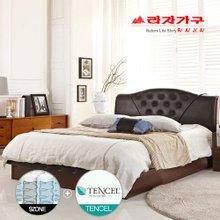 [라자가구]텐셀라인 엘리자베스PT9 침대세트 퀸Q(텐셀 9zone독립매트)