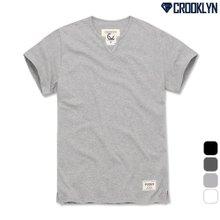 [크루클린] 트렌디한 트임 슬라브 반팔 티셔츠 TRS187