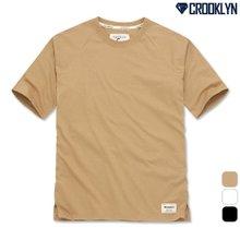 [크루클린] 5부 래글런 루즈핏 티셔츠 TRS166