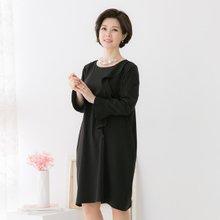 마담4060 엄마옷 러플싱글원피스 QOP902007