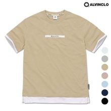 [앨빈클로]AST-3515 BRAVERY 레이어드 오버핏 티셔츠