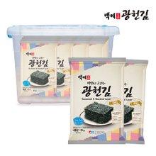 백제광천김 재래/파래 전장김20g 30봉 + 리빙박스