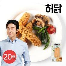 [허닭] 닭가슴살 소시지 매콤훈제 120g 20팩