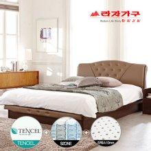[라자가구]텐셀라인 엘리자베스PT9 침대세트 퀸Q(텐셀라텍스 9zone독립매트)