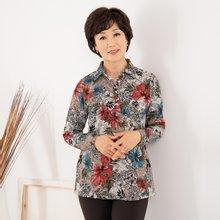 마담4060 엄마옷 꽃그림카라티셔츠 ZTE909023