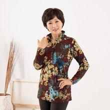마담4060 엄마옷 가을꽃카라티셔츠 ZTE909022