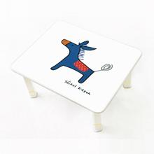 [키높이 조절가능] 신지가토 세이프티 테이블 포니-블루 ( 600*480) 찻상/노트북테이블로~