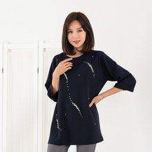 마담4060 엄마옷 블링블링티셔츠 ZATE909001