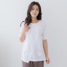 마담4060 엄마옷 사선포인트생활한복상의-ZKC005006-