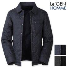 르젠 스냅플랩포켓 헥사곤퀄팅 셔츠 자켓(LNJK761PR)