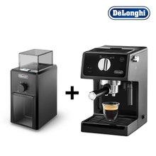 [드롱기] 커피 한 잔의 여유, 반자동 커피머신(ECP31.21)+그라인더(KG79)