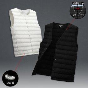 [탑보이] 남녀공용 오리털 넥변형 패딩조끼 (SUH014)