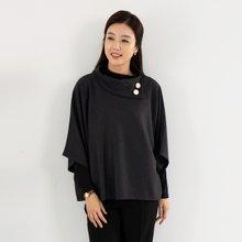 마담4060 엄마옷 단추망토폴라티셔츠 ZTE910021