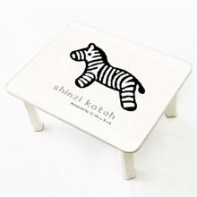 [귀여운 케릭 신지가토] 세이프티 테이블 뽀글이얼룩말 ( 600*480) 찻상/노트북테이블로~