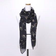 [파파브로]페이스 가을 겨울 간절기 패션 스카프 DRN-WSC0151-네이비