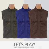 [마운틴가이드]봄,여름등산복/단체복/베스트/메쉬 망사 등산조끼 CNM-B91-S03