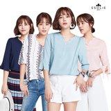 [쏠리에] 썸머 샤이닝 샬리 레이온 블라우스 4종 (With 박시연)