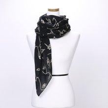 [파파브로]페이스 가을 겨울 간절기 패션 스카프 DRN-WSC0151-블랙