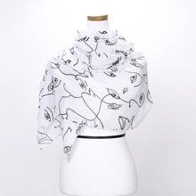 [파파브로]페이스 가을 겨울 간절기 패션 스카프 DRN-WSC0151-화이트